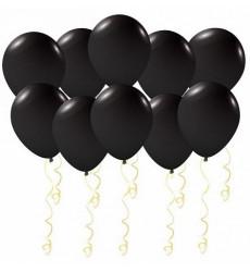 Набор из 10 черных шаров 12/30 см «Таинственное облако»