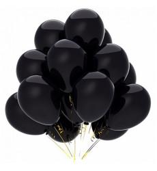 Набор из 15 черных гелиевых шаров 12/30 см «Тучка»