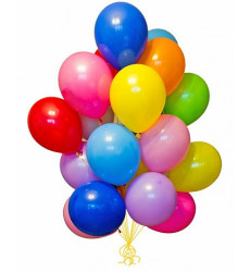 Набор из 15 разноцветных гелиевых шаров «Фейерверк»