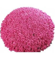 Корзина цветов с 1001 розовой розой Аква «Розовые грёзы»