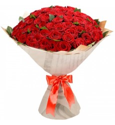 Букет из 101 красной розы «Признание в любви»