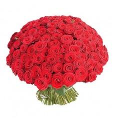 Букет из 101 красной розы «Пламенное желание»