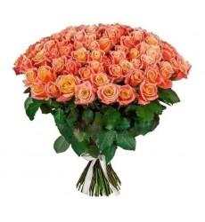 Букет из 101 розы Мисс Пигги «Шарм королевы»