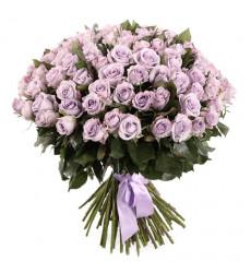 Букет из 101 розы сиреневого цвета «Королева »