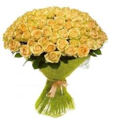 Букет из 101 жёлтой розы Сфинкс «Клеопатра»