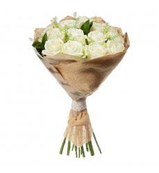 Букет из 11 белых роз  «Кассандра  »