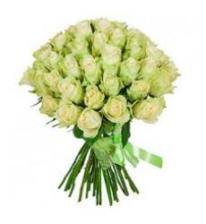 Букет из 15 зеленых роз «Нефрит»