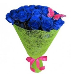 Букет из 17 синих роз «Тайное признание»