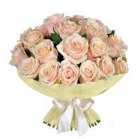 Букет из 19 кремовых роз  «Утренние грёзы»