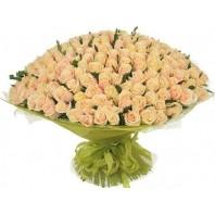 Букет из 201 кремовой розы Пич Аваланж «Искреннее признание»
