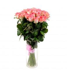 Букет из 23 бело-розовых роз  «Волшебный вечер »