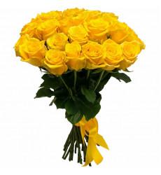 Букет из 23 желтых роз  «Солнце пустыни»