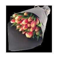 Букет из 25 тюльпанов «Поцелуй феи»
