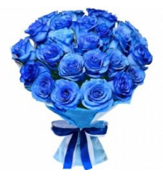 Букет из 27 синего цвета  «Нимфа »