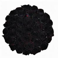 Букет из 39 чёрных роз «Вихрь страсти»