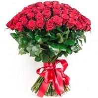 Букет из 49 красных роз  «Вечная любовь»