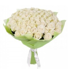 Букет из 51 белой розы «Крепкие узы»