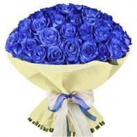 Букет из 51 синей розы «Синяя мгла»