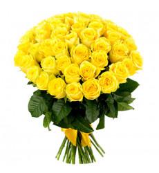 Букет из 61 желтой розы  «Праздник любви»