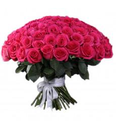 Букет из 61 розовой розы «Бархатное облако »