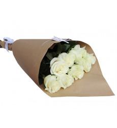 Букет из 7 белых роз  «Белое полотно »