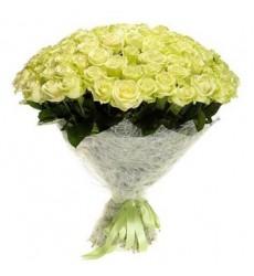 Букет из 101 белой розы «Навсегда моя»