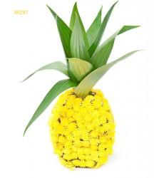 Цветочная композиция из кустовых хризантем «Тропический ананас»