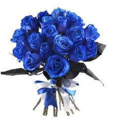 Букет из 19 синих роз «Синее искушение»