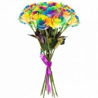 Букет из 15 радужных роз «Радужный сон»
