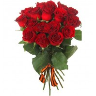 Букет из красных роз «Память о подвиге»