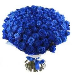 Букет из 101 синей розы «Вечернее небо»