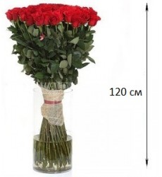 Букет  из 101 розы 120 см. «Багровая высь»