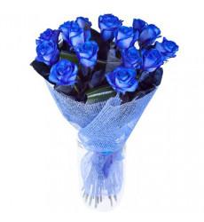 Букет  из 12 синих роз  «Ночь любви »