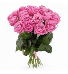 Букет из 21 розовой розы «Ароматная глазурь»