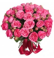 Букет из 29 пионовидных роз Пинк Пиано «Цвета радости»