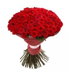 Букет  из 45 красных роз «Румяная заря»
