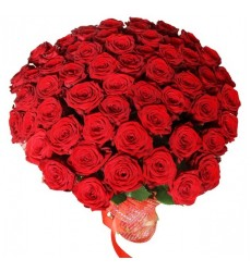 Букет  из 55 роз  «Звезда любви»