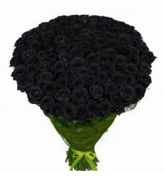 Букет из 99 чёрных роз «Маренго»