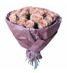 """Букет из голландских роз цвета """"капучино"""" «Сладкие нотки»"""