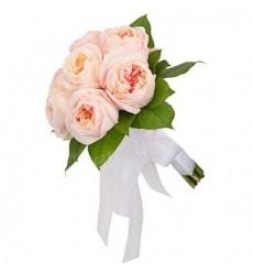 Букет невесты из 9 элитных роз Дэвид Остин «День королевы»