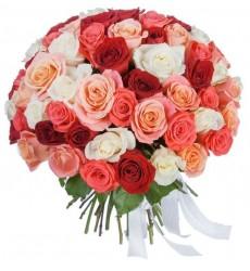 Букет из 25, 51 или 101 розы  «Удачный роман»