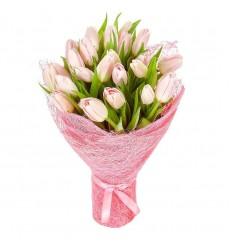 Букет из 25 розовых тюльпанов «Хороший день»
