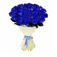 Букет из 39 синих роз «Морские глубины»