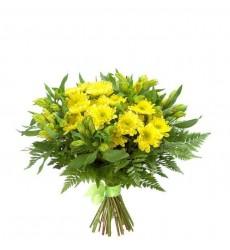 Букет из 5 жёлтых альстромерий «Лимонный сон»