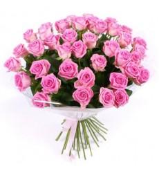 Букет из 31 розовой розы «Розовая нега»
