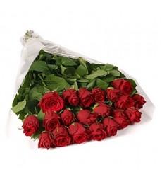 Букет из 21 красной розы «Жгучая страсть»