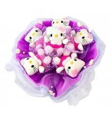 Букет из 7 игрушек Hello Kitty «Пушистое очарование»