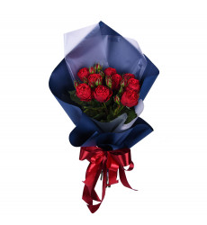 Букет из 9 бордовых роз  «Любимая моя»