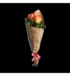 Букет из 3 оранжевых роз «Грация»