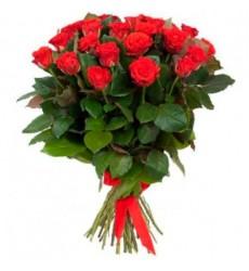 Букет из 25 красных роз «Золотая струна»